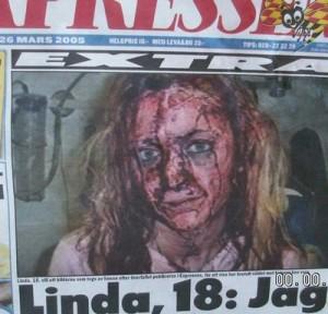 En ung svensk kvinna som är en av många som fallit offer för mångkulturen.