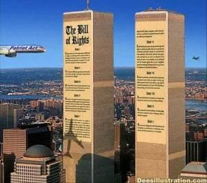 """""""False flag""""-operationer genomförs för att lägga skulden på andra och därigenom kunna driva igenom en egen agenda. Med 9/11 så lyckades man slå flera flugor i en smäll, bl.a. att göra oss medborgare vana vid överdrivet rigorös övervakning, naturligtvis """"för vårt eget bästa""""..."""