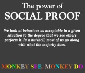 Den psykologiska principen om sociala bevis är mycket kraftfull.