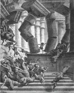 Den bibliska figuren Samson tog sina fiender med sig in i döden. Israel vill ta hela världen med sig in i döden.