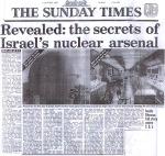 Klicka här för att läsa avslöjandet om Israels kärnvapenarsenal i en större version där texten går att läsa. Observera dock att artikeln är från 1986 och att Israels kärnvapenprogram av idag sannolik är betydligt mer utbyggt och sofistikerat.