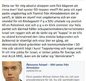 Solveig Renhammaer-Metus kommentar på Facebook.