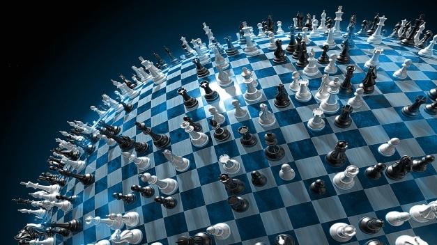 Samma hand flyttar alla pjäser på det geopolitiska schackbrädet.